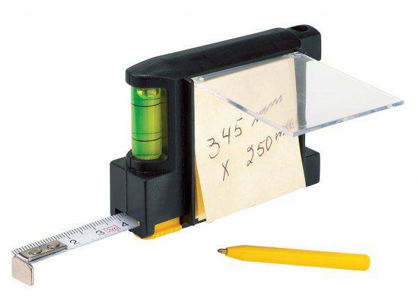 Porta notas con flexómetro